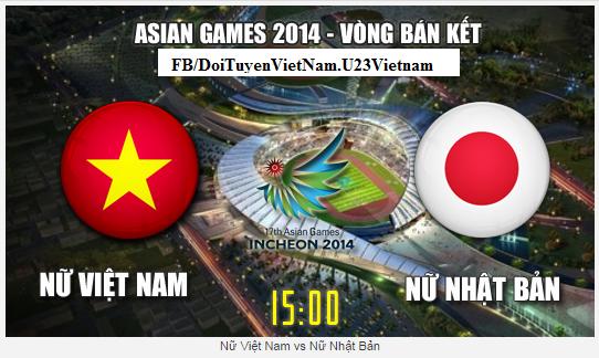 Link xem trực tiếp Tuyển Nữ Việt Nam - Tuyển Nữ Nhật Bản.